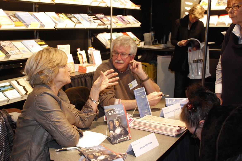 Agnès Sautois et Georges KUPENS à la foire de Bruxelles